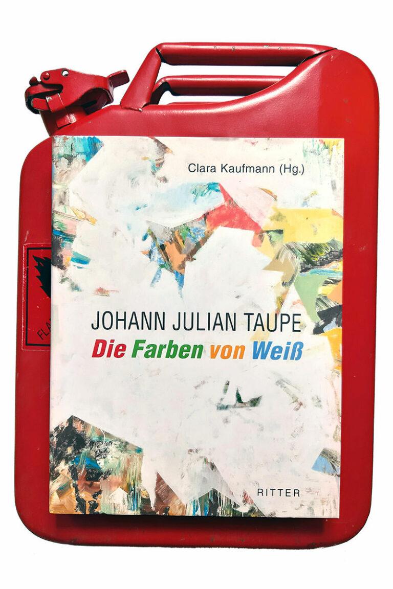 Roter Kanister mit Buch Johann Julian Taupe
